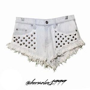 CarMar Women's Fringe Shorts Size 25
